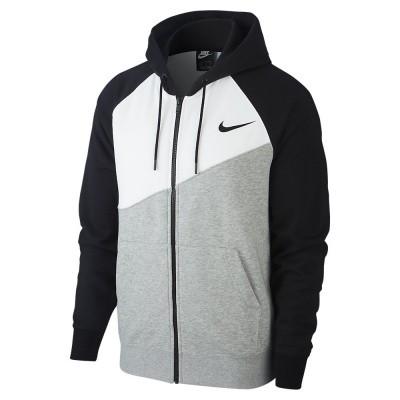 Foto van Nike Sportswear Swoosh Hoodie FZ FT Dark Grey Heather