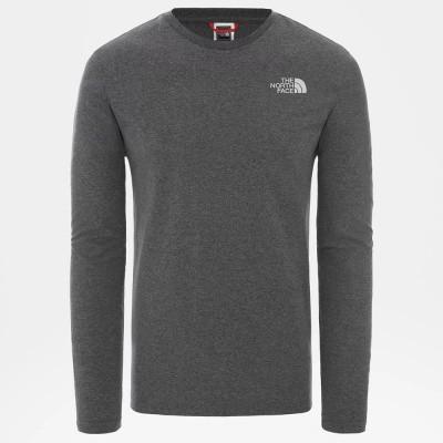 Foto van The North Face Easy T-Shirt met Lange Mouwen Medium Grey Heather