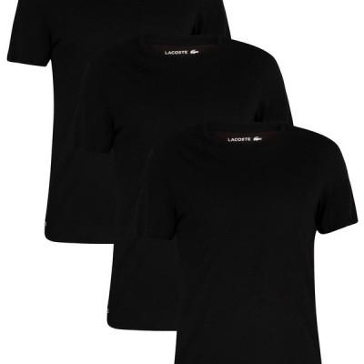 Lacoste Set van 3 T-shirts Zwart