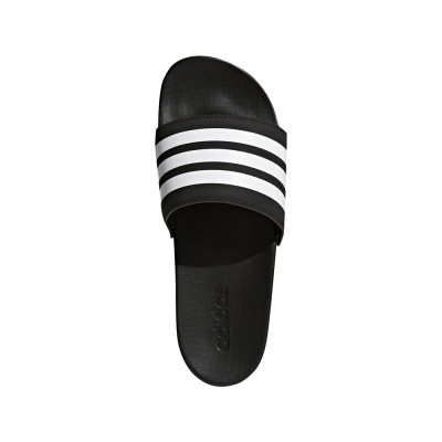 Foto van Adidas adilette Cloudfoam Plus Mono Slippers Black-White