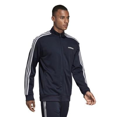 Foto van Adidas Essentials 3 Stripes Trainingspak Blauw
