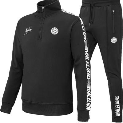 Foto van Malelions Sport Quarterzip Tracksuit Black/White