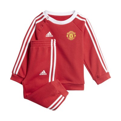 Foto van Manchester United 3-Stripes Baby Joggingpak Real Red