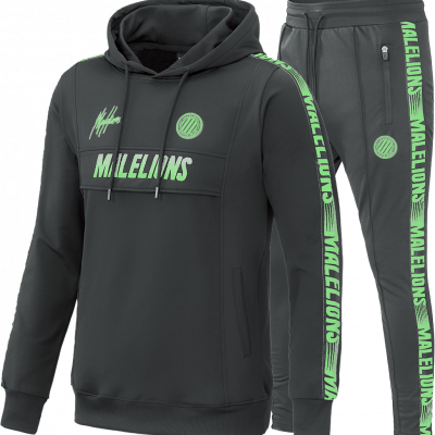 Foto van Malelions Sport Tracksuit Warming Up Antra Neon Green
