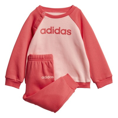 Foto van Adidas Linear Fleece Joggingpak Infants Glory Pink