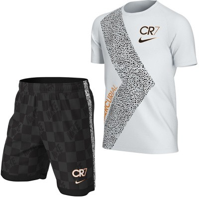 Foto van Nike Dry Fit Set Kids CR7 White Black