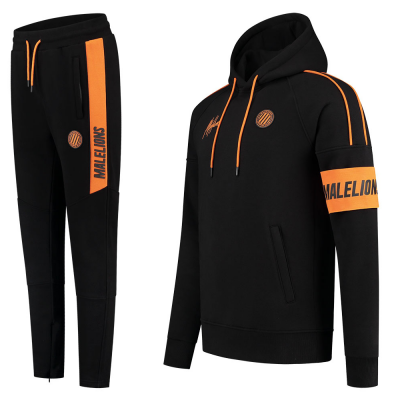 Foto van Malelions Sport Coach Hoodie Set Black Neon Orange