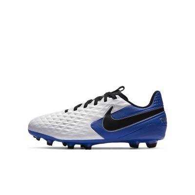 Foto van Nike Legend 8 Academy FG Kids White Hyper Blue