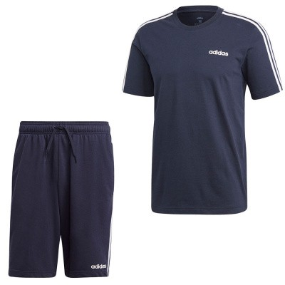 Adidas Essentials 3 Stripes Set Zwart