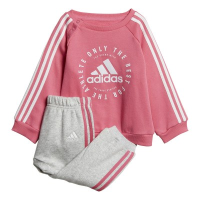 Foto van Adidas 3-Stripes Joggingpak Peuters Pink