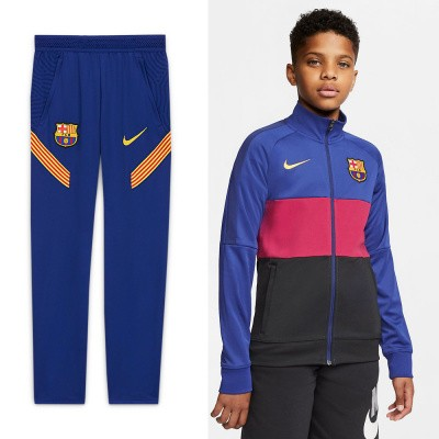 Foto van FC Barcelona Dri-FIT Trainingspak Kids Noble Red