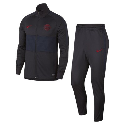 Foto van Paris Saint-Germain Dri-FIT Squad Trainingspak Oil Grey