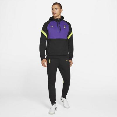 Foto van Tottenham Hotspur Hooded Fleece Set Black Court Purple