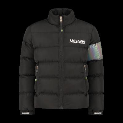 Foto van Malelions Reflective Puffer Jacket Black