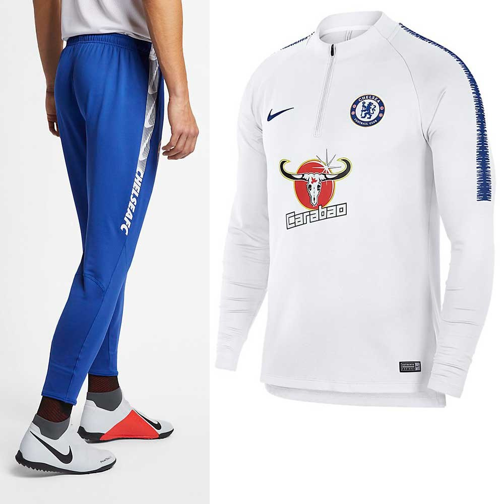 Afbeelding van Chelsea FC Dri-FIT Squad Drill Set Wit