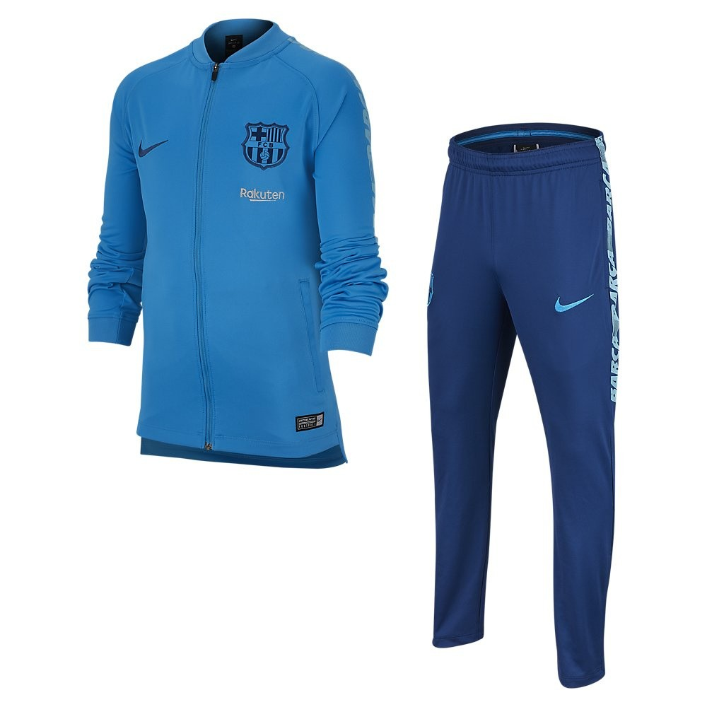 Afbeelding van FC Barcelona Dri-FIT Squad Trainingspak Kids Blue