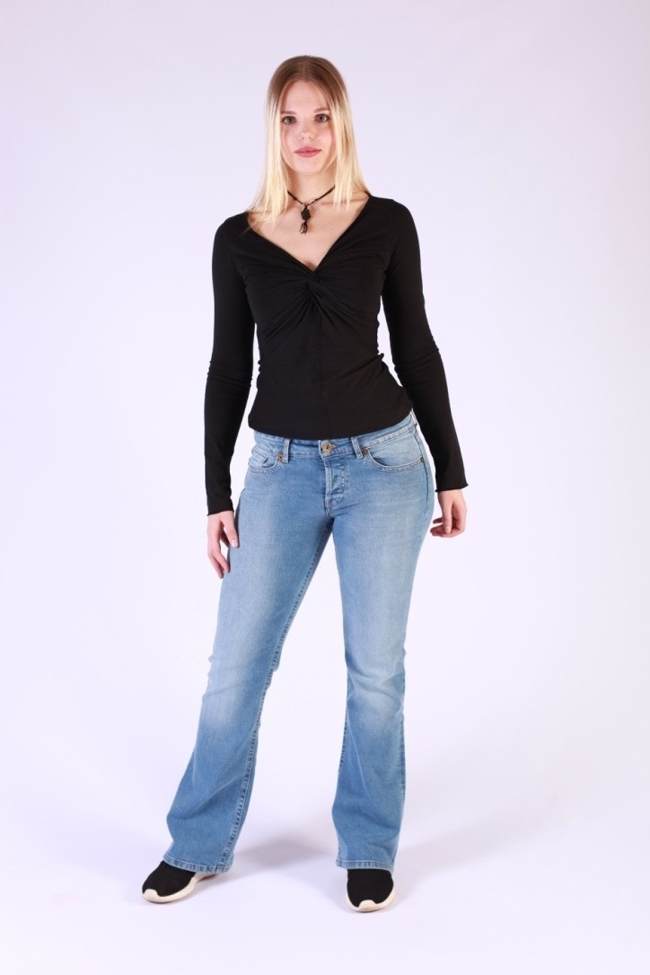 Jeans Fred Kamino Hellblauw Used