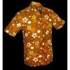 Afbeelding van Overhemd korte mouw Fridge Flowers bruin