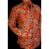 Afbeelding van Overhemd retro, paisley red brown grey