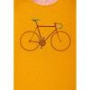 Afbeelding van Green Bomb   T-shirt bike trip, bio katoen goud geel