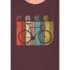 Afbeelding van Green Bomb | T-shirt bruin Bike Retro Stripes bio katoen