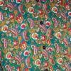 Afbeelding van Overhemd seventies, Paisley en bloemen groen