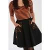 Afbeelding van Hell Bunny | Zwarte rok Miss Muffet met oranje spinnenwebben