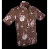 Afbeelding van Chenaski | Overhemd korte mouw, Japanese Leaves, bruin