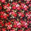 Afbeelding van Overhemd korte mouw, Roses zwart rood