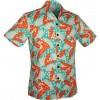 Afbeelding van Chenaski | Overhemd korte mouw, Aloha, creme turquoise orange
