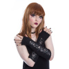 Afbeelding van Poizen Industries | Armwarmers Vita zwart met kant en veterdetail