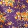 Afbeelding van Chenaski | Overhemd korte mouw, flowers violet orange