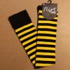 Afbeelding van Flirt | Overknee sokken zwart felgeel gestreept