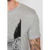 Afbeelding van Green Bomb | T-shirt Bike Jump, bio katoen heather grey