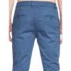 Afbeelding van ATO Berlin | Pantalon Dino, blauw met zacht wafel-ruit motief