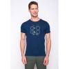 Afbeelding van Green Bomb | T-shirt bike shape, bio katoen navy