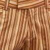 Afbeelding van Broek recht model met bruine strepen