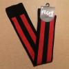 Afbeelding van Flirt | Overknee sokken zwart rood diagonale streep