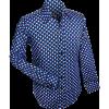 Afbeelding van Overhemd retro, 3d grid blue