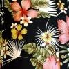 Afbeelding van Overhemd korte mouw Jungle Flowers zwart