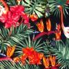 Afbeelding van Overhemd korte mouw, Flamingos in the Jungle, zwart