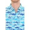 Afbeelding van Overhemd met korte mouw retro haaien