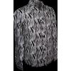 Afbeelding van Overhemd retro, leaves black