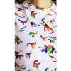 Afbeelding van Run & Fly | T-shirt wit met regenboog dinos