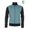 Afbeelding van ATO Berlin, vest Toni jacquard patroon, groen blauw