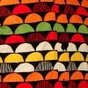 Afbeelding van Chenaski - overhemd seventies, Sunset zwart en oranje