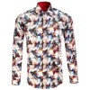 Afbeelding van Claudio Lugli, overhemd met Rainbow koi betta fish print