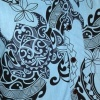 Afbeelding van Chenaski | Overhemd korte mouw Tribal lichtblauw zwart