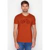 Afbeelding van Green Bomb | T-shirt oranje Bike Cross bio katoen