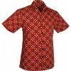 Afbeelding van Chenaski | Overhemd korte mouw, Dotsgrid, black red